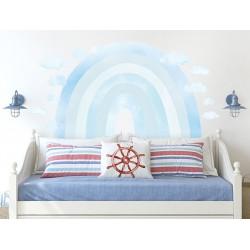 Naklejka na ścianę - Tęcza - niebieska
