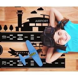 Naklejki na podłogę - Lotnisko