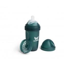 Herobility - butelka antykolkowa Herobottle 240 ml, ciemnozielona + smoczek M (2 m+)