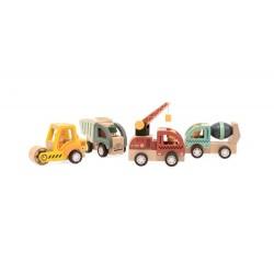 Pojazdy budowy autka do rączki drewniane