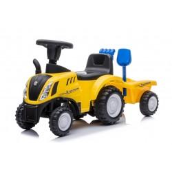 Jeździk traktor z przyczepą New Holland żółty