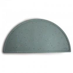 Mushie - Podkładka silikonowa na stół Cambridge Blue Confetti