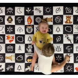 Kontrastowa mata dla dzieci by Dzieciaki Cudaki