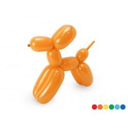 Balony modeliny pastelowe 130cm z pompką, mix (1 op. / 30 szt.)