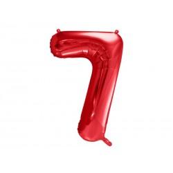 Balon foliowy Cyfra ''7'', 86cm, czerwony (1 karton / 50 szt.)