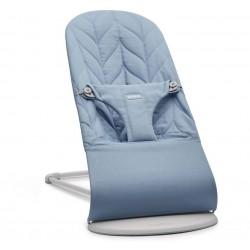 BABYBJORN - leżaczek BLISS COTTON, Petal Quilt, Niebieski