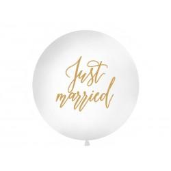 Balon 1 m, Just married, biały
