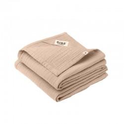 BIBS 2 pieluszki 100% GOTS organic cotton 70 x 70 Blush