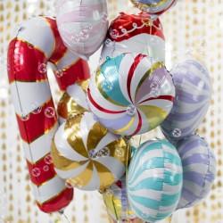 Balon foliowy Cukierek, 35cm, mix (1 karton / 50 szt.)