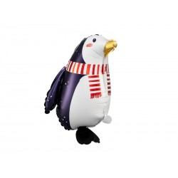 Balon foliowy Pingwin, 29x42cm, mix