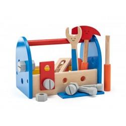 Drewniany zestaw z narzędziami