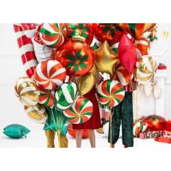 Balon foliowy Cukierek, 35cm, czerwony (1 karton / 50 szt.)