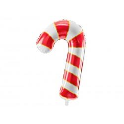 Balon foliowy Cukrowa laska, 50x82cm, czerwony (1 karton / 50 szt.)