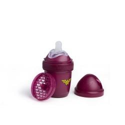 Herobility - butelka antykolkowa HeroBottle 140 ml, WonderWoman + smoczek S (0 m+)