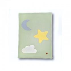 Hi Little One - Kołderka, mata, kocyk z oddychającej BIO bawełny organicznej GOTS Day & Night Mint
