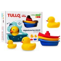 Zestaw kaczuszek do kąpieli z łódkami