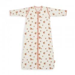 Jollein - Śpiworek niemowlęcy całoroczny 4 pory roku z odpinanymi rękawami Peach 90 cm