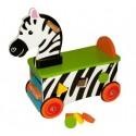 Drewniany jeździk szalona Zebra