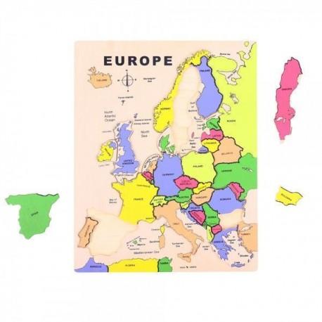 Drewniane puzzle układanka edukacyjna Mapa Europy