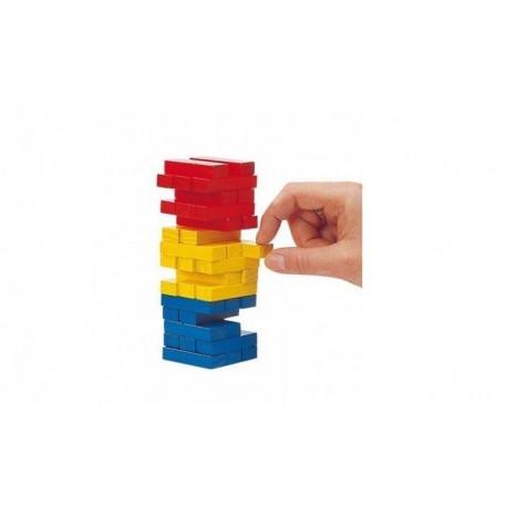 GOKI Jenga kolorowa - wersja mini