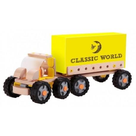 Autoskładak drewniany ciężarówka