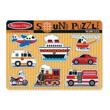 Układanka dźwiękowa - Pojazdy - puzzle muzyczne