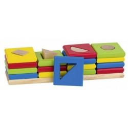 Edukacyjny drewniany sorter 4 kształty GOKI
