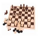 Zestaw gier - drewniane Szachy i Warcaby