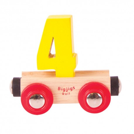 Wagonik cyferka 4
