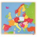 Układanka edukacyjna Mapa Europy - puzzle drewniane