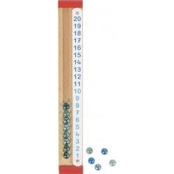 Liczydło drewniane dla dzieci GOKI kalkulator kulkowy