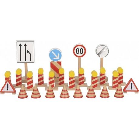 Znaki drogowe drewniane - zestaw znaków remontowych