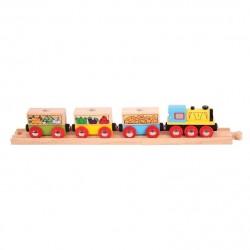 Pociąg z owocami i warzywami