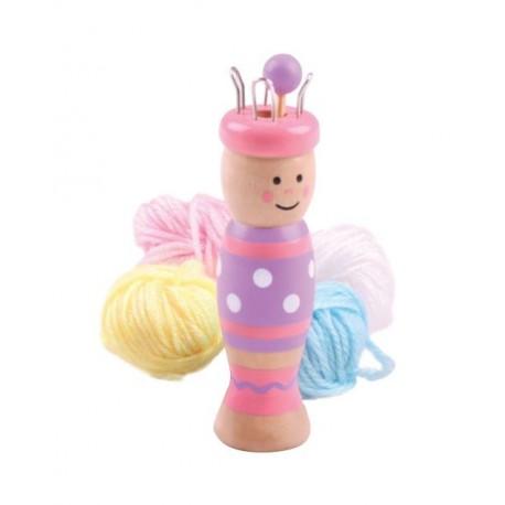 Laleczka dziewiarska Sara - French knitting