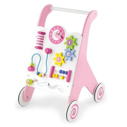 Chodzik pchacz różowy dla dziewczynki