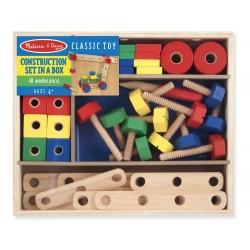 Drewniane klocki konstruktora - 48 elementów