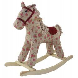 Konik na biegunach interaktywny Pinky Rosa dźwięk koń w kwiatki