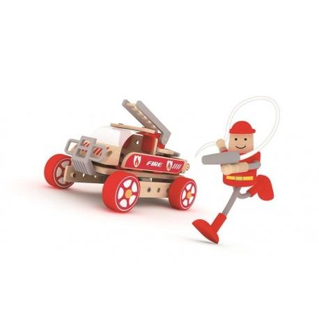 Autoskładak drewniany wóz strażacki