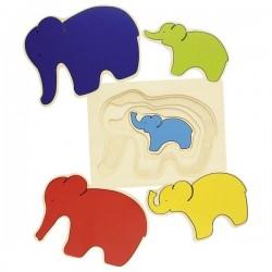Układanka warstwowa słoń