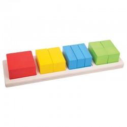 Układanka kwadraty i ułamki