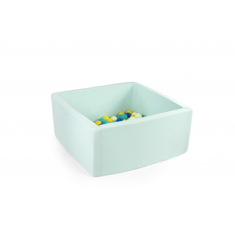Suchy basen z piłeczkami 90x40x40 - miętowy 200 piłeczek