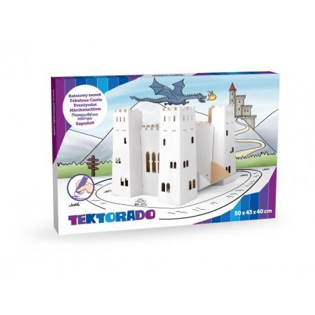 Baśniowy zamek z kartonu do zabwy i malowania