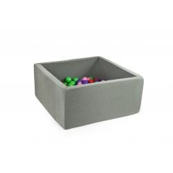 Suchy basen dla dzieci kwadratowy bez piłek szary
