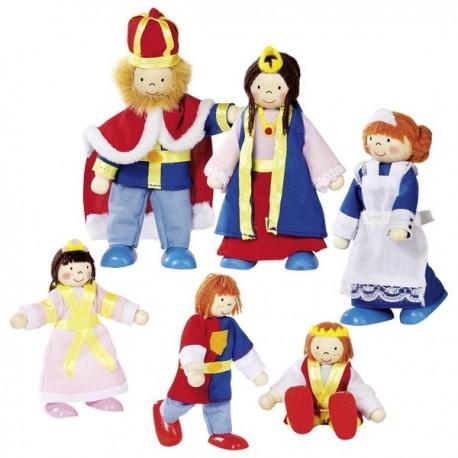 Drewniane lalki - rodzina królewska GOKI