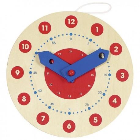 Zegar drewniany do nauki godzin