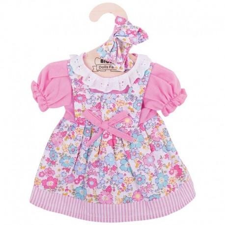Sukienka dla lalki różowa w kwiatki