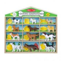 Figurki psów rasowych - 10 figurek w domku