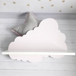 Drewniane półka chmurka do pokoju dziecięcego - mała