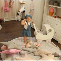 Mata do zabawy/worek na zabawki 2w1 motylki/groszki 150 cm