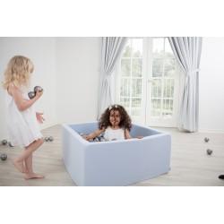 Suchy basen dla dzieci z piłeczkami 110x110x40 kwadratowy 400 szt. piłek
